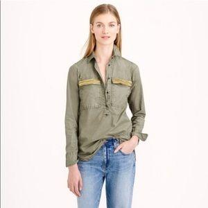J Crew black label cotton embellished shirt
